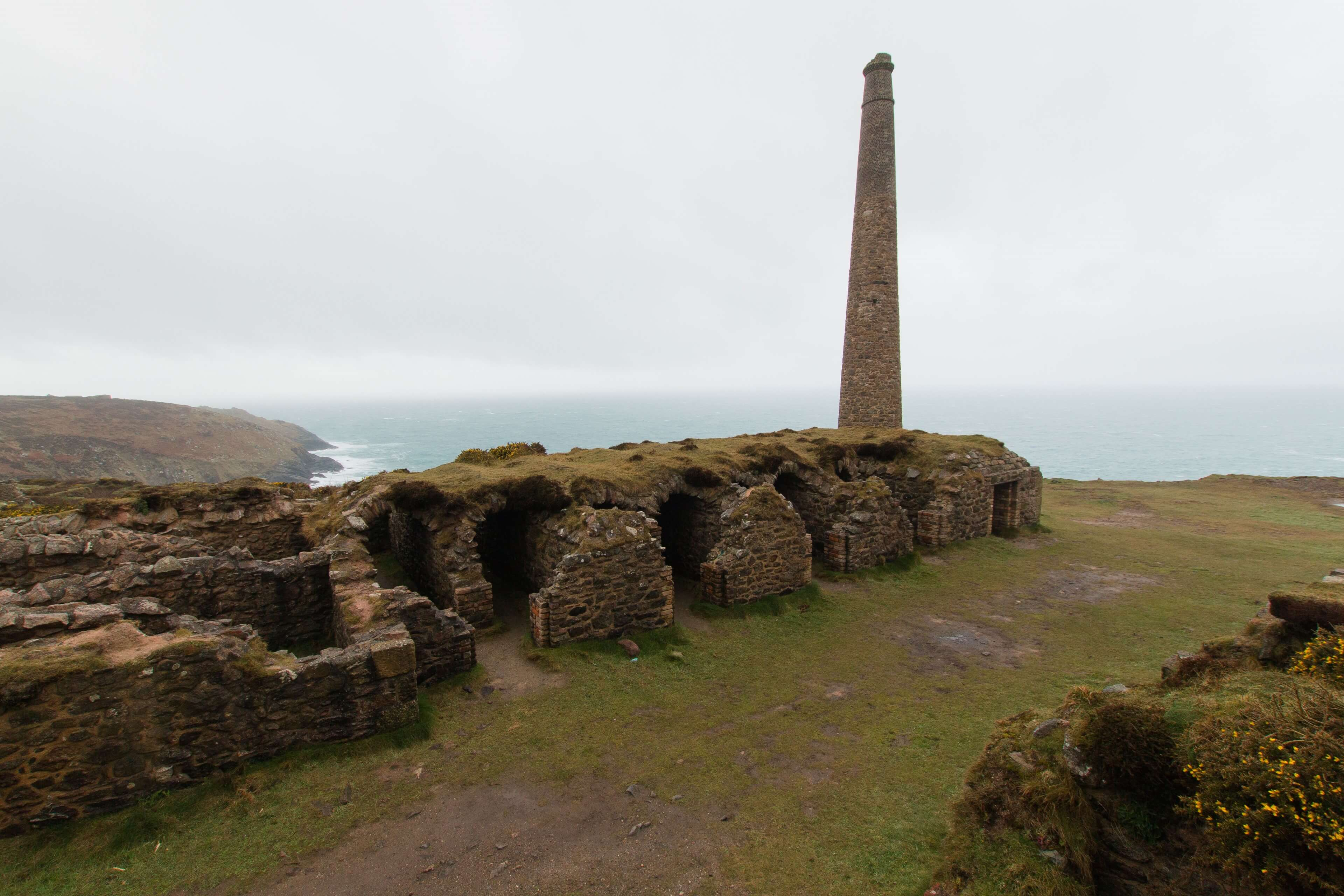 Tin Mines Near Pendeen