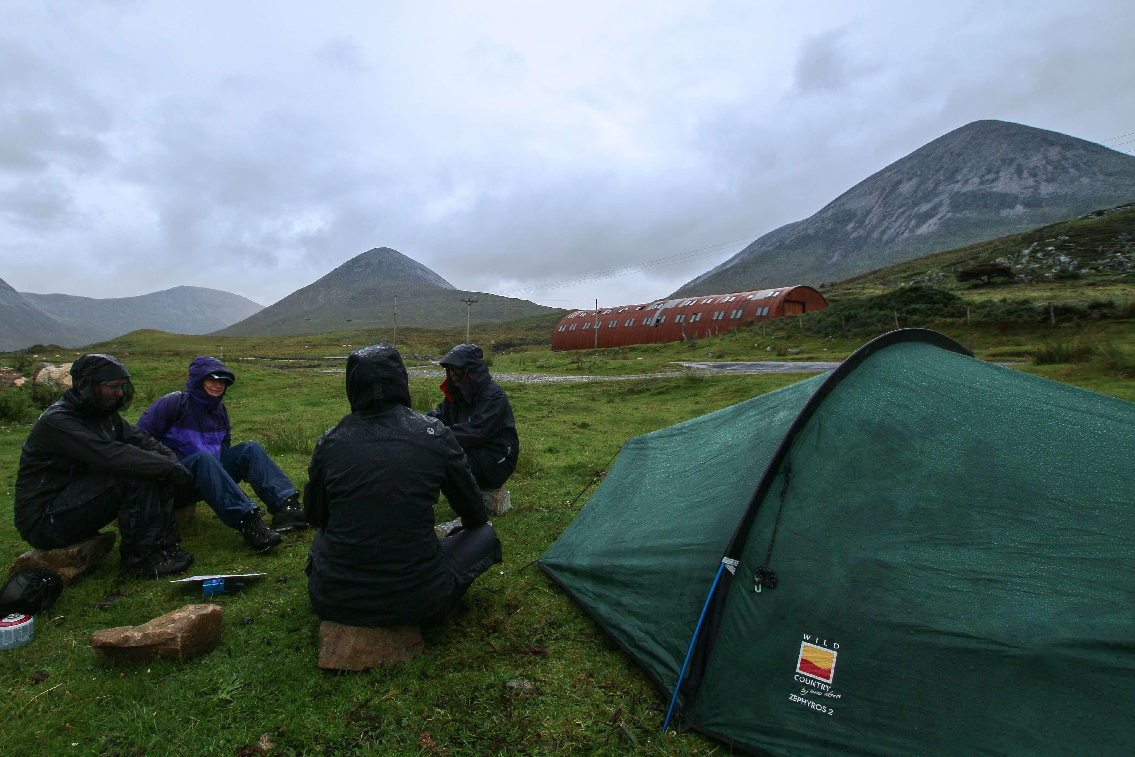 Wet Wild Camping At Torrin