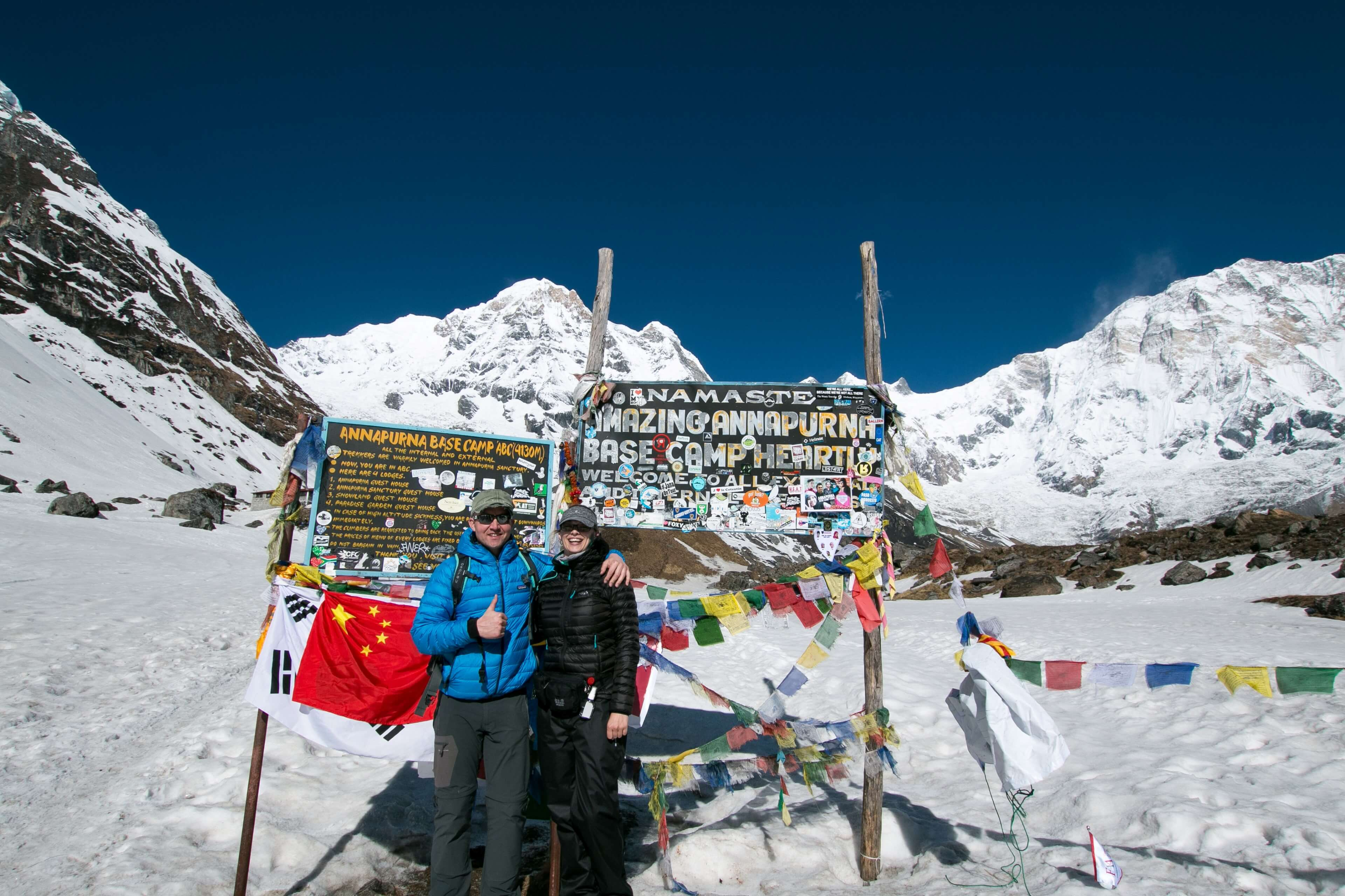 We Made It To Annapurna Base Camp  at 4130m