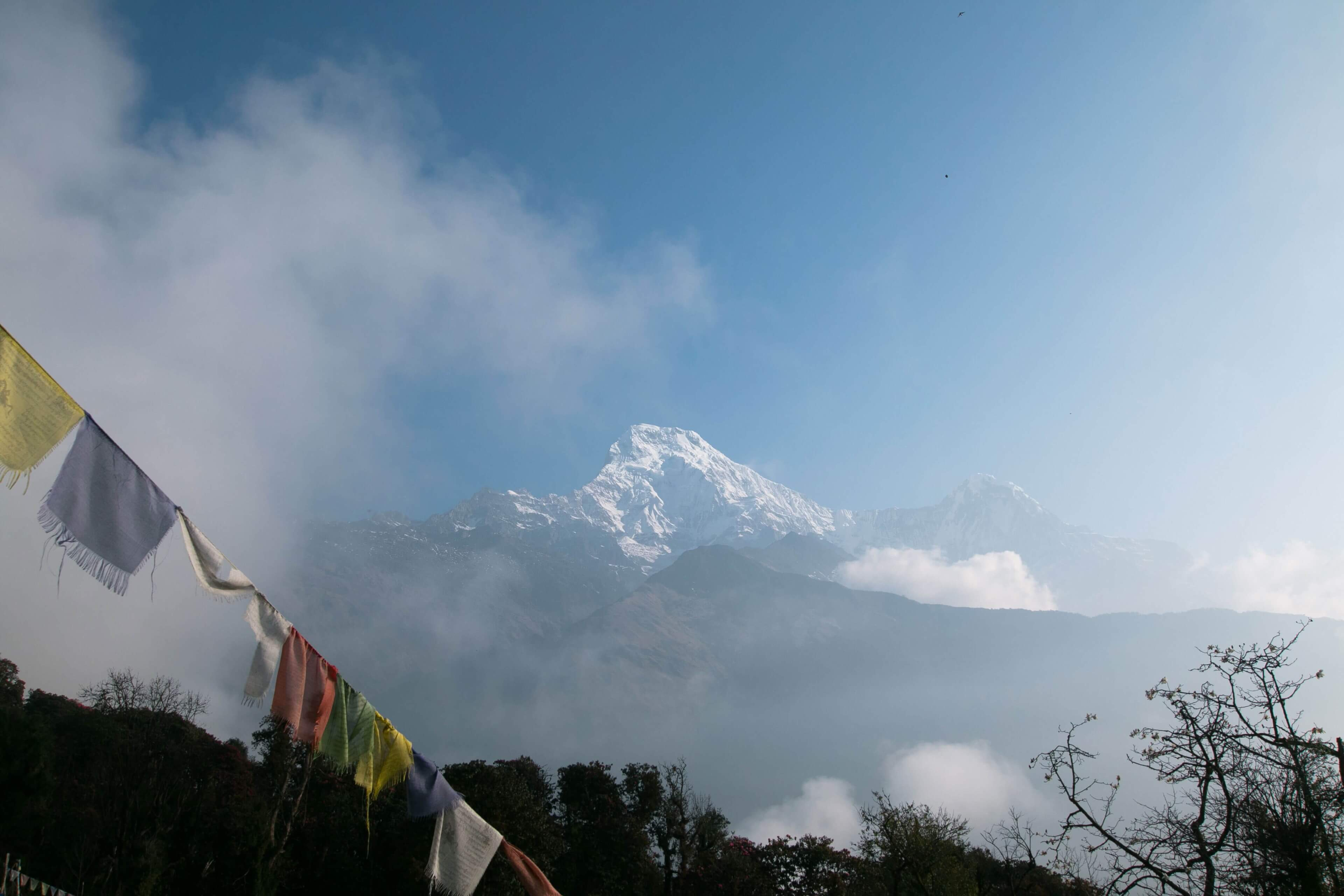 Looking Towards Annapurna 1 (8091m) from Chommrong
