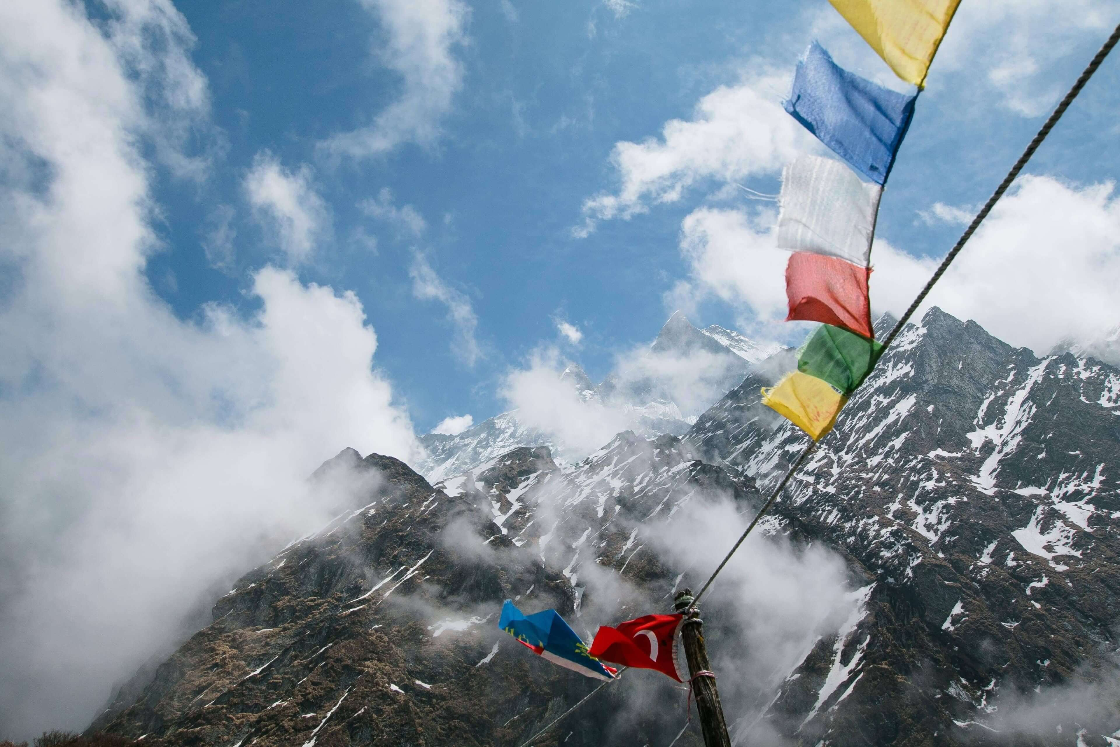 Machapachure  & Prayer Flags