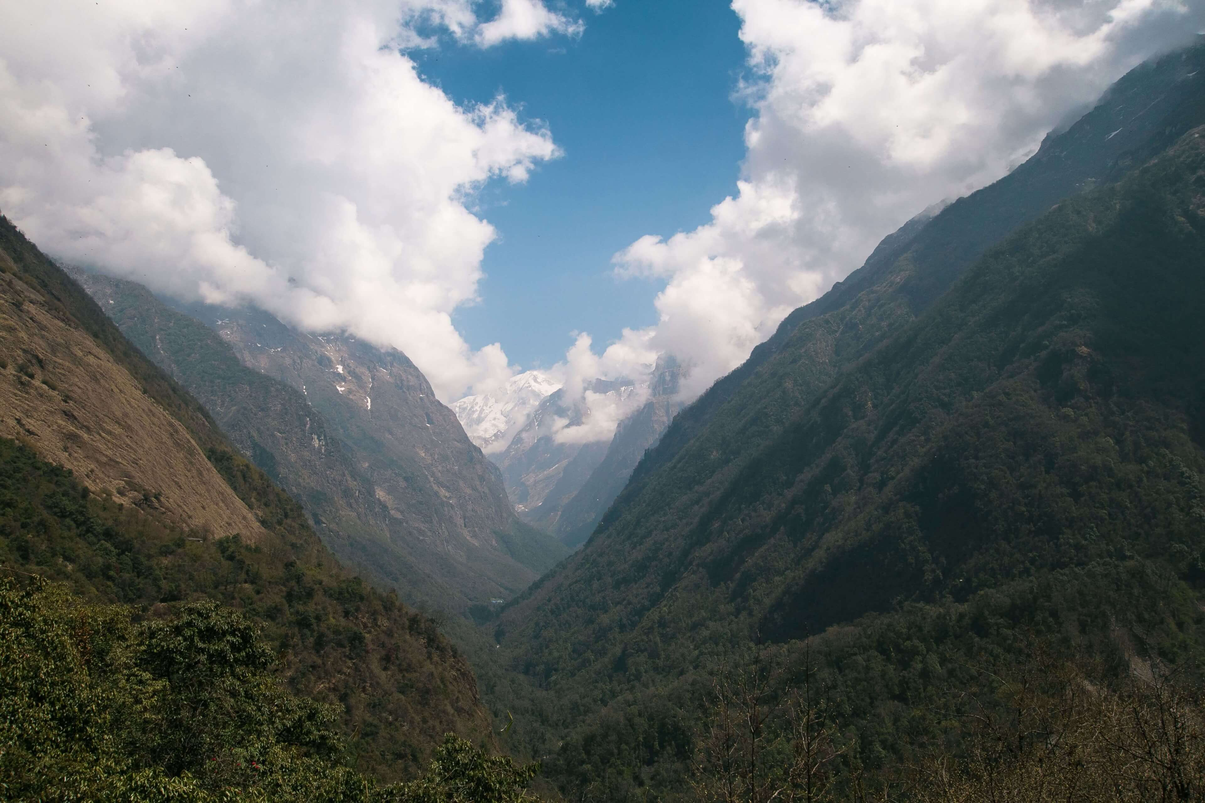 Valley Looking Towards Himalaya