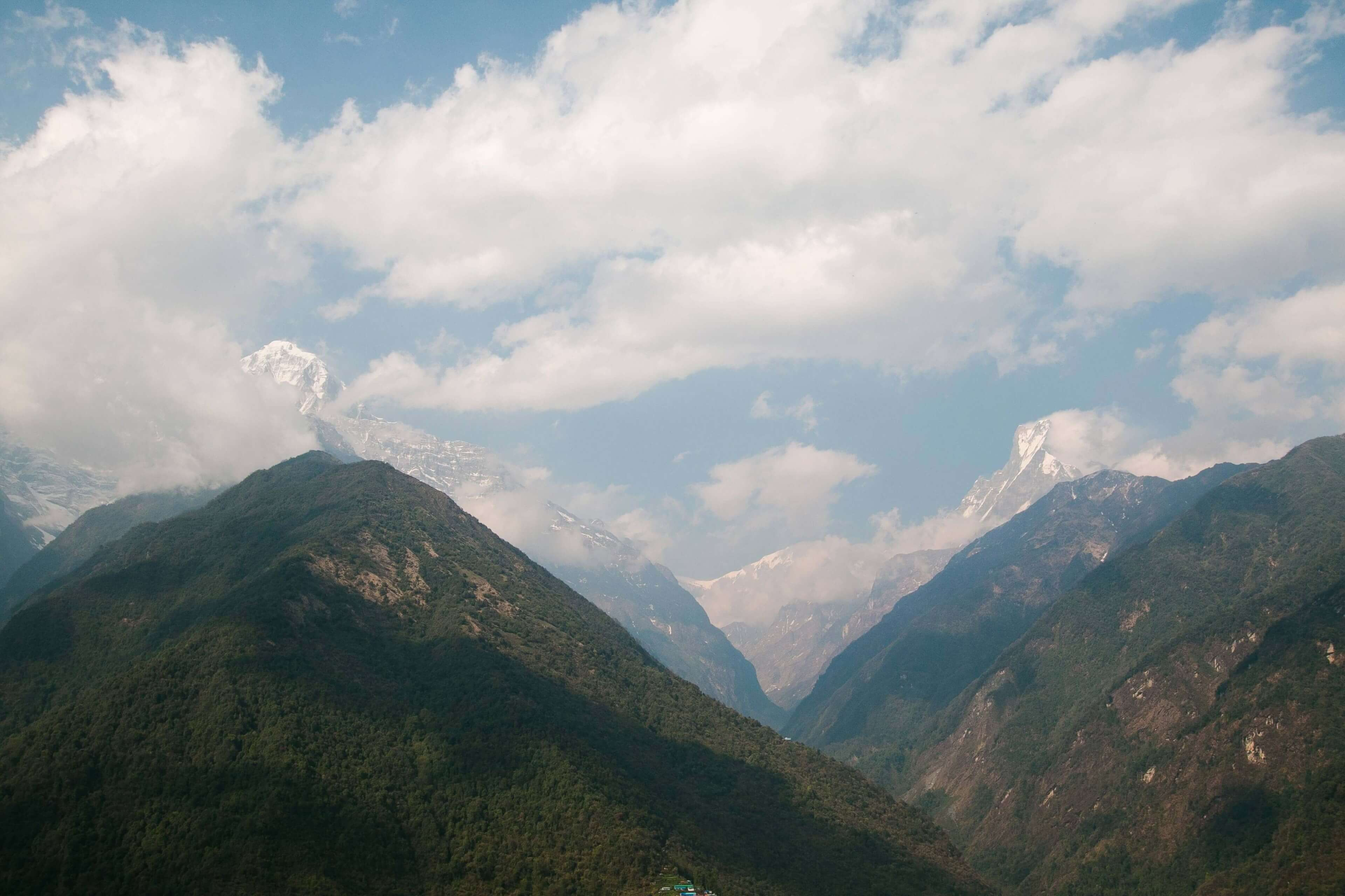 Looking Towards The Annapurna Massive