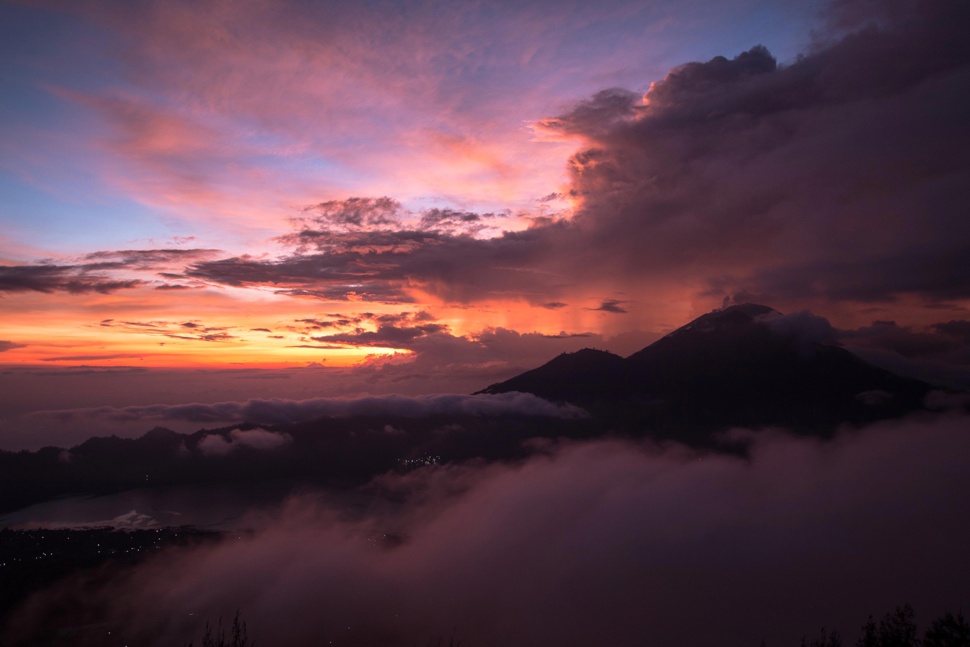 Sunrise Beyond Mount Agung