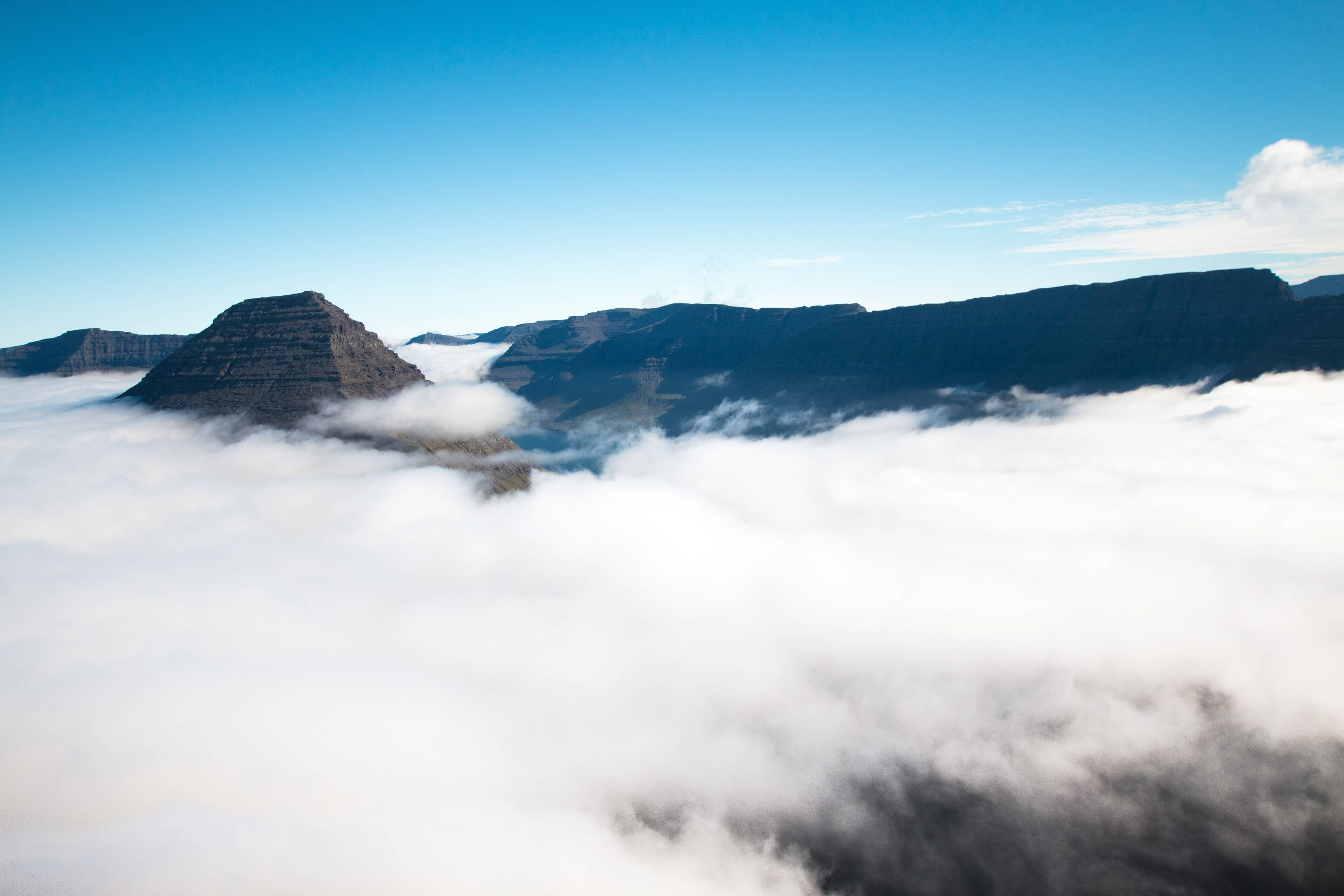 Malinsfjall Above Clouds